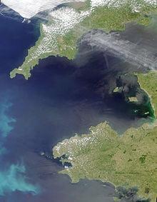 Cornwall by satellite
